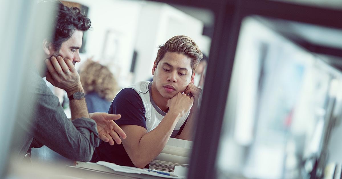 A SALA professor and student. Photo credit: Martin Dee/UBC Communications & Marketing